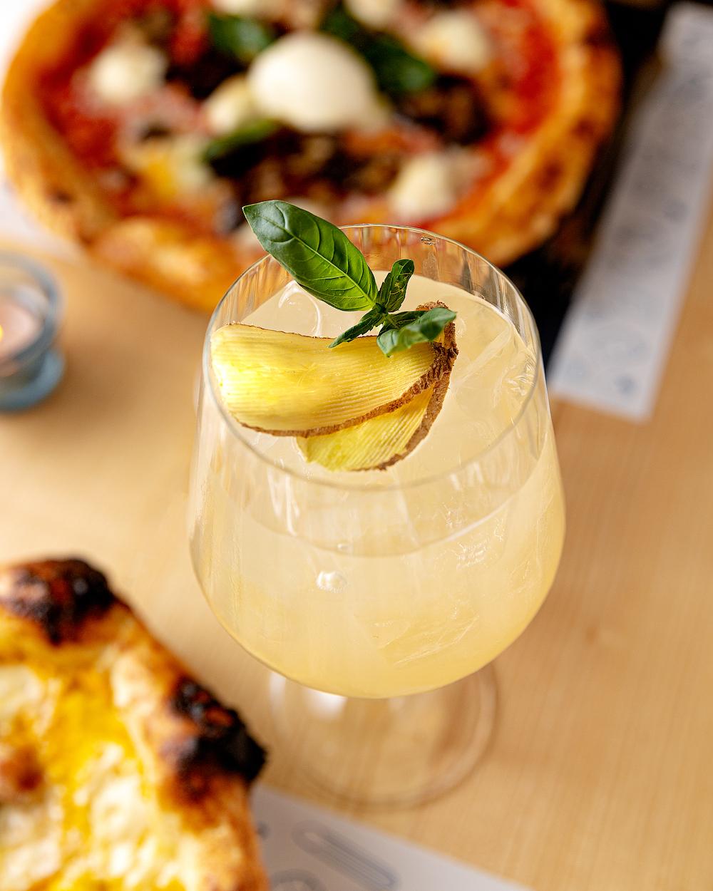 Ingwer-Limetten-Limonade, Una Pizza Innsbruck